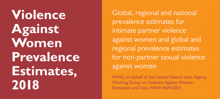 Report cover graphic: Violence Against Women Prevalence Estimates, 2018