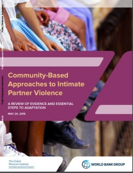 Manual Cover: Communictu-based approaches to Intimate Partner Violence (photo of people sitting along a wall)