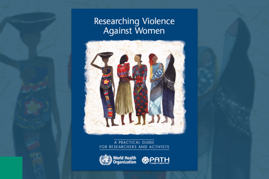Picture of a design with women on the cover on a report manual