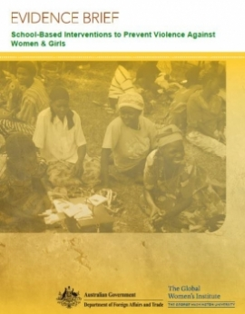 Report cover: Evidence brief (women)