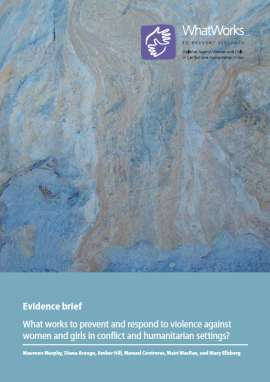 Report cover: What Works (abstract painting)