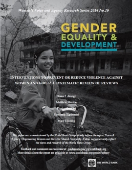 Report cover: Gender Equality and Devleopment (Photo: Girl on a bike)