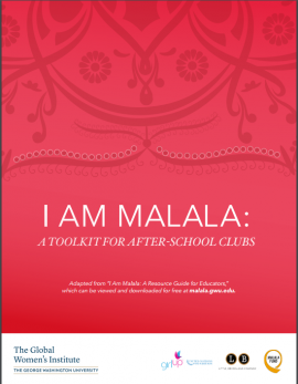 Cover: I am Malala: A toolkit for after-school clubs