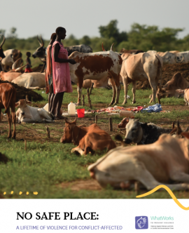 Report Cover Report Cover: No Safe Place (summary report) woman and cows
