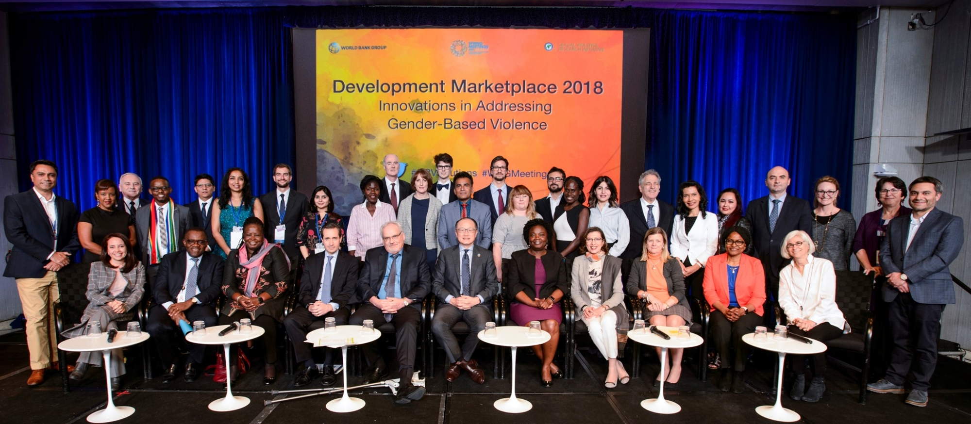 Group photo at the Development Marketplace