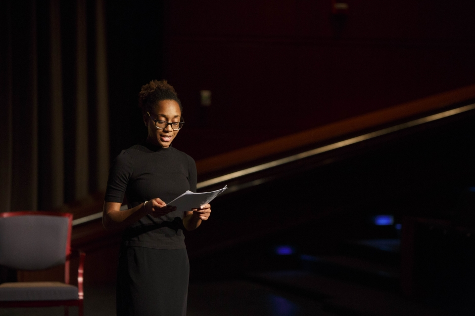 GWU Theatre student performs spoken word