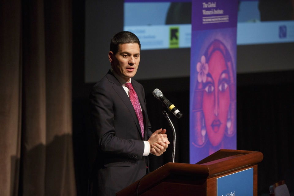 David Miliband gives keynote address